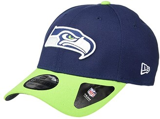 New Era NFL Team Classic 39THIRTY Flex Fit Cap - Seattle Seahawks (Navy/Action Green) Baseball Caps
