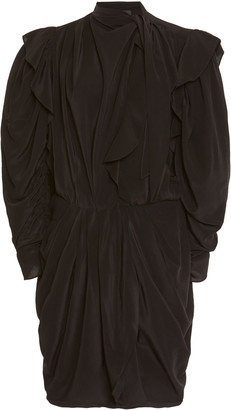 Isabel Marant Bruna Necktie Silk Mini Dress
