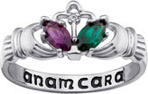 FINE JEWELRY Personalized Claddagh Birthstone Engraved Ring