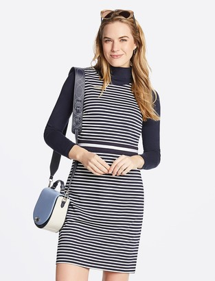 Draper James Striped Ponte Sheath Dress