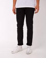 Nudie Jeans Grim Tim Dry Black Selvedge Jeans