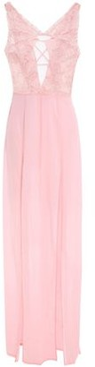 La Perla Cutout Embroidered Tulle And Ruffle-trimmed Stretch-silk Nightdress