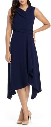 Maggy London Asymmetrical Neck Dress