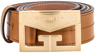 Givenchy Mystic Leather Belt in Desert | FWRD