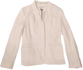 Calvin Klein White Linen Jackets