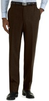 Brooks Brothers Milano Fit Plain-Front Flannel Trousers