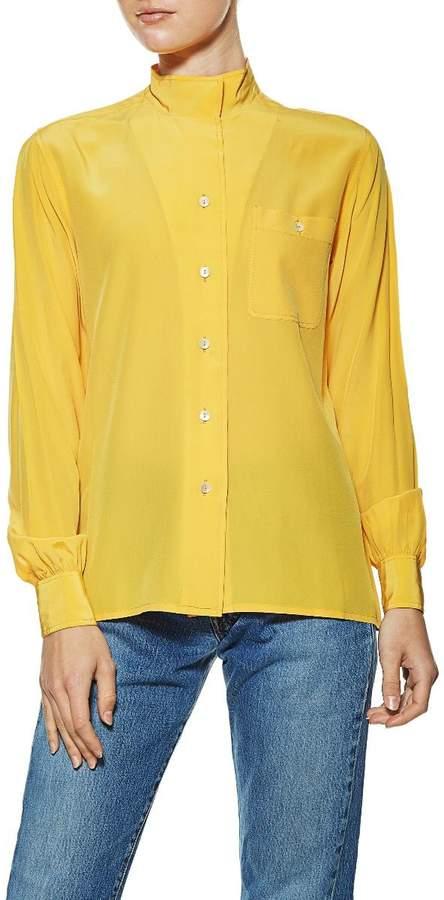 cd3c73eef34283 Silk Blouses Mandarin Collar - ShopStyle