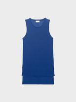 DKNY Pure Sleeveless Scoop Neck Shirt With Step Hem