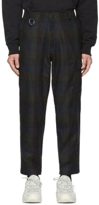 Études Green and Navy Checked Cirrus Trousers
