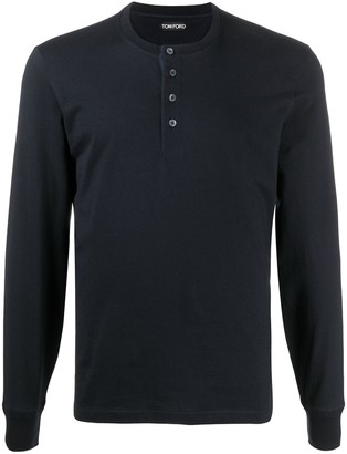Tom Ford longsleeve Henley T-shirt