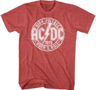 American Classics Men's Tee Shirts RED - AC/DC Heather Red 'Rock & Roll' Tee - Men