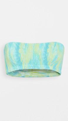 Peixoto Smocked Kara Bandeau Bikini Top