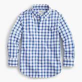 J.Crew Boys' Secret Wash shirt in windowpane plaid