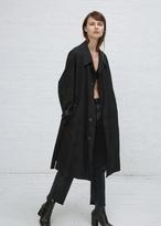 Maison Margiela black plaid coat