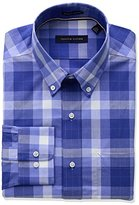 Tommy Hilfiger Men's Non Iron Regular Fit Multi Plaid Spread Collar Dress Shirt