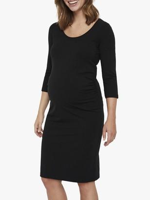 Mama Licious Mamalicious Lea Jersey Maternity Dress, Black