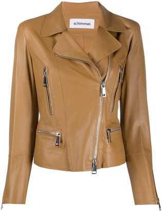 Sylvie Schimmel Metro Glove zipped biker jacket