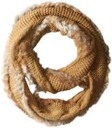 Rudsak Women's Nana Cable Knit Scarf with Fur Trim