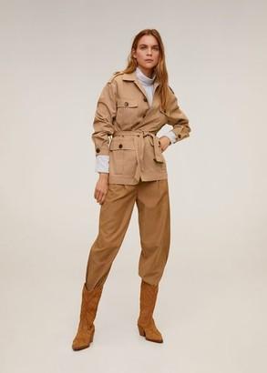 MANGO Pocketed cotton jacket