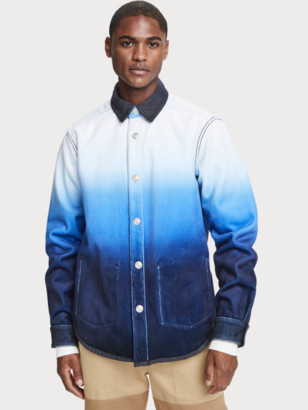 Scotch & Soda Reversible ombre cotton-blend overshirt | Men