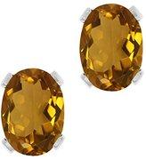 Gem Stone King 1.40 Ct Oval Shape Quartz Sterling Silver Stud Earrings