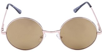 Jordan Gold Round Festival Ready Sunglasses