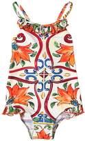 Dolce & Gabbana Maiolica Print Lycra One Piece Swimsuit