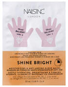 Nails Inc FACEINC by Shine Bright Moisturising and Anti-Ageing Glove Masks - Deeply Hydrating, Brightening and Firming