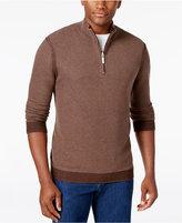 Tommy Bahama Men's Quarter-Zip Textured Reversible Sweater