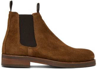 Belstaff Brown Suede Longton Chelsea Boots