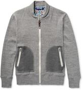 Junya Watanabe - Shawl-collar Mélange Cotton-jersey Zip-up Sweatshirt