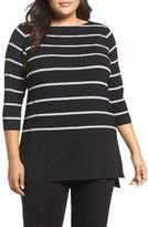 Vince Camuto Plus Size Women's Duet Stripe Contrast Hem Top