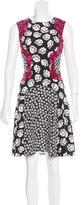 Diane von Furstenberg Floral Print Sleeveless Dress