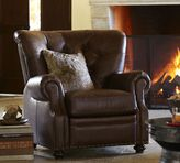 Pottery Barn Lansing Leather Armchair & Recliner