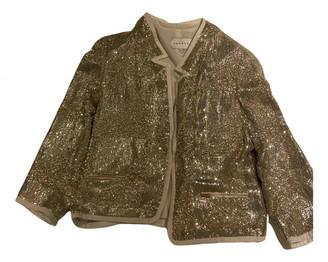 Sandro Gold Glitter Jackets