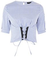 Topshop Stripe corset top