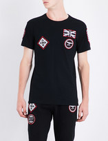 Boy London Patch-detailed cotton-jersey T-shirt