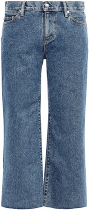 Simon Miller Cropped Mid-rise Straight-leg Jeans