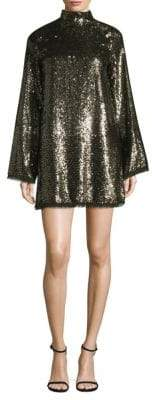 KENDALL + KYLIE Sequin Bell-Sleeve Mini Dress