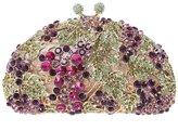 Bonjanvye Bling Purses Grape Hard Case Clutch Bags For Women' s Clutches