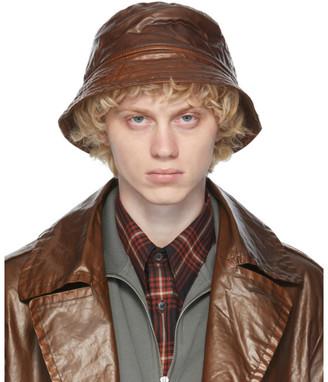Dries Van Noten Brown Quilted Bucket Hat