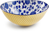 """Certified International Chelsea Collection Embossed Indigo/Yellow Floral 4.75"""" Bowl"""