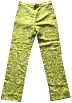 Gianni Versace Green Silk Trousers for Women Vintage