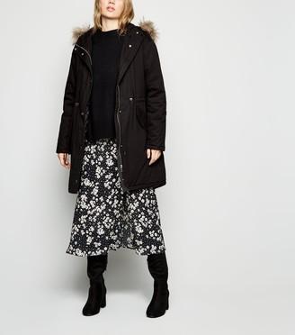 New Look Cotton Faux Fur Trim Parka