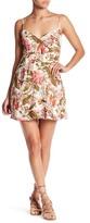 Honey Punch V-Neck Floral Print Dress