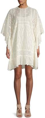 Valentino Lace Cotton Shift Dress