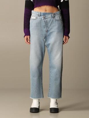 GCDS Jeans Twist Jeans In Used Denim