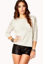 Forever 21 Studded Dolman Sweater