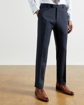 Ted Baker Checked Wool Blend Suit Trousers