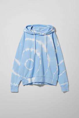 Weekday Alisa Printed Hoodie - Blue